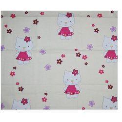 Pieluszka flanelowa Kotki na różowym tle 70 x 80 cm