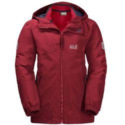 Chłopięca kurtka 3w1 B ICELAND 3IN1 JKT dark lacquer red - 140
