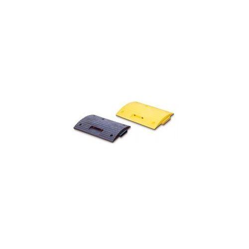 Pozostała odzież robocza i BHP, Progi zwalniające - elementy proste - kolor żółty i czarny, wym. 500 x 500 mm, wys. 70 mm