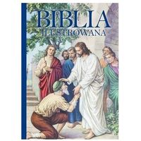 Książki dla dzieci, Biblia ilustrowana (niebieska) (opr. twarda)