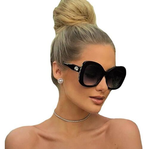 Okulary przeciwsłoneczne, Okulary przeciwsłoneczne damskie czarne okrągłe