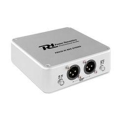 Power Dynamics PDX30, przystawka DI Stereo, symetryczne wyjście XLR, aluminium