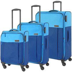 Travelite Neopak zestaw walizek / komplet / walizki na 4 kółkach / niebieski - niebieski
