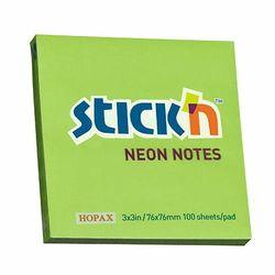 Notes Samoprzylepny 76x76 Stickin zielony neon