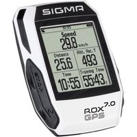 Liczniki rowerowe, Sigma licznik ROX GPS 7.0 biały - BEZPŁATNY ODBIÓR: WROCŁAW!