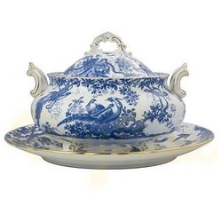 Royal Crown Derby Blue Aves Waza Duża z Pokrywą