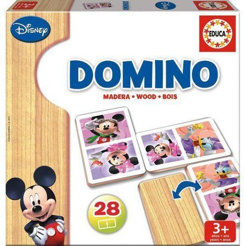 Zabawki z drewna, Domino Drewniane, Mickey i Minnie