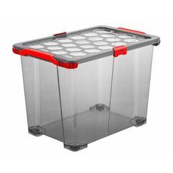 Rotho pojemnik do przechowywania z kółkami 65 l EVO TOTAL