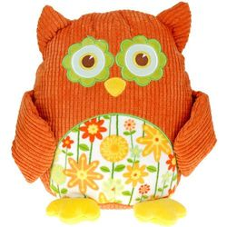 Przytulanka sowa, miękka zabawka, pomarańczowa, 28 cm
