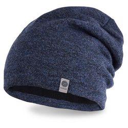 Zimowa czapka męska PaMaMi - Granatowa mulina - Granatowa mulina
