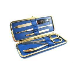 NAPPA BLUE GOLD - elegancki 5-częściowy zestaw do manicure ze ZŁOCONYMI akcesoriami, SOLINGEN-Kiehl