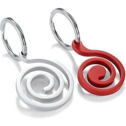 Brelok do kluczy Snail Philippi srebrny i czerwony (P273028)