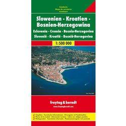 Słowenia Chorwacja Bośnia i Hercegowina. Mapa 1:500 000 (opr. twarda)