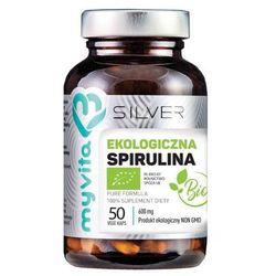 Silver Pure 100% Spirulina BIO 600mg 50 kaps.