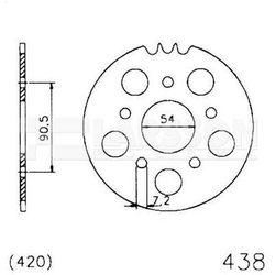 Zębatka tylna stalowa JT 50-32075-42, 42Z, rozmiar 520 2301041 Ducati Monster 800