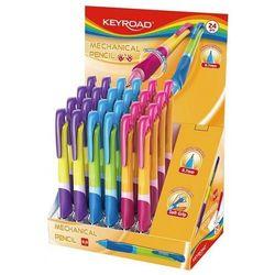 Ołówek automatyczny KEYROAD Easy Writer 07mm. pakowany na displayu mix kolorów