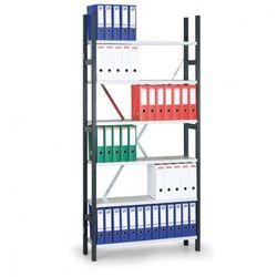 Regał archiwalny Variant, 2190x1240x300 mm, szare półki, dodatkowy