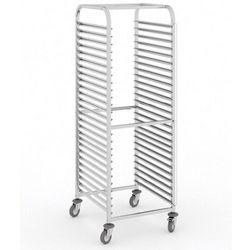 Wózek ze stali nierdzewnej na pojemniki gastronomiczne, 20 poziomów, GN 2/1, 1800x590x670 mm