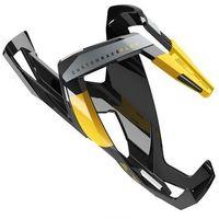 Bidony i koszyki, Koszyk na bidon ELITE Custom Race Plus czarny-żółty / Wykończenie: połysk