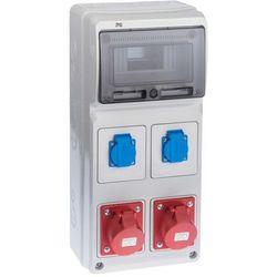 Rozdzielnica elektryczna bez wyposażenia RS 1 / 8 6241 - 00 / 2 X 2P + Z 2 X 3P + N + Z 16A ELEKTRO-PLAST