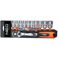 Zestawy narzędzi ręcznych, Zestaw kluczy nasadowych NEO 08-653 3/8 cala (12 elementów) + DARMOWY TRANSPORT!