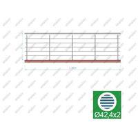 Przęsła i elementy ogrodzenia, Balustrada nierdzewna AISI304, D42,4/5xd12/H1000/L