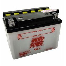 Akumulator motocyklowy Moto Power CB4L-B YB4L-B 12V 4Ah 56A EN P+