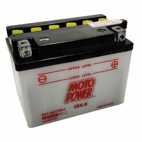 Akumulatory do motocykli, Akumulator motocyklowy Moto Power CB4L-B YB4L-B 12V 4Ah 56A EN P+
