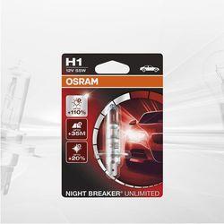 Osram Night Breaker Unlimited H1, 64150NBU-HCB, 12 V, twarda osłona – podwójne opakowanie, biały