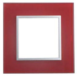 SOPIA (Kalya) Ramka szklana pojedyncza czerwona 159355