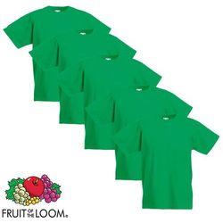 Fruit of the Loom 5 koszulek dla dzieci, 100% bawełny, zielonych, rozmiar 116 cm Darmowa wysyłka i zwroty