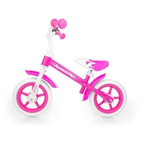 Rowerki biegowe, ROWEREK BIEGOWY DRAGON RÓŻOWY #B1