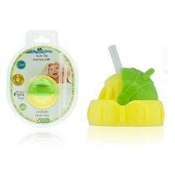 Ustnik ze słomką do butelki Pacific Baby Straw Top Żółte/Zielone