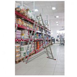 Dwuczęściowa drabina aluminiowa wielofunkcyjna, 2x15 stopni, 8,4 m