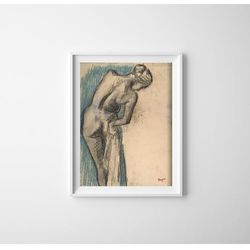 Plakat vintage do salonu Plakat vintage do salonu Edgar Degas The Bather Series