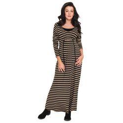 Długa jesienna Sukienka ciążowa Lona