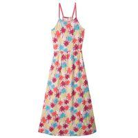 Sukienki dziecięce, Długa sukienka plażowa bonprix pudrowy jasnoróżowy z nadrukiem