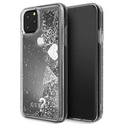 Guess GUHCN65GLHFLSI iPhone 11 Pro Max srebrny/silver hard case Glitter Hearts - Srebrny