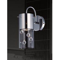 Oprawa lampa ścienna szklana tuba z kryształkami Italux Cordell 1x35W GU10 chrom MBM1835-1