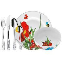 Sztućce dla dzieci, WMF Sztućce i naczynia dla dzieci Tierwelt zestaw 6 sztuk
