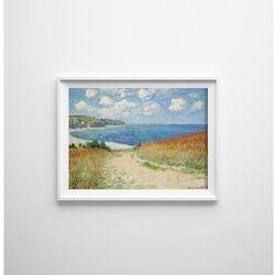 Plakat do pokoju Plakat do pokoju Monet Claude Road na polu pszenicy w Pourville
