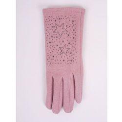 Rękawiczki kobiece różowe gwiazdki z jetów 23