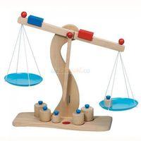 Drobne AGD dla dzieci, GOKI Drewniana waga z metalowymi szalkami