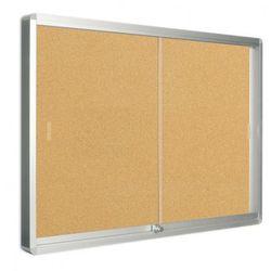 Gablota z drzwiami przesuwnymi, korkowa, 967 x 706 mm