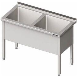 Stół z basenem dwukomorowym 1300x700x850 mm | STALGAST, 981407130