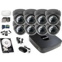 Zestawy monitoringowe, Zestaw do monitoringu: Rejestrator BCS-XVR0801E, 4x Kamera LV-AL40HVD, 1TB, akcesoria
