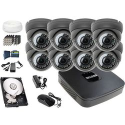 Zestaw do monitoringu: Rejestrator BCS-XVR0801E, 4x Kamera LV-AL40HVD, 1TB, akcesoria