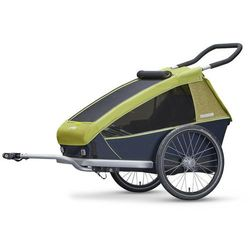 Croozer Kid for 2 Przyczepka rowerowa szary/zielony 2018 Przyczepki dla dzieci Przy złożeniu zamówienia do godziny 16 ( od Pon. do Pt., wszystkie metody płatności z wyjątkiem przelewu bankowego), wysyłka odbędzie się tego samego dnia.