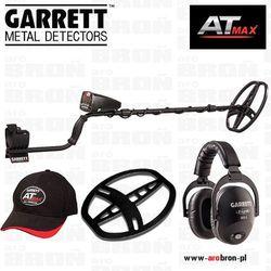 Wykrywacz metali GARRETT AT MAX + słuchawki bezprzewodowe MS-3 Z-Link, osłona cewki, czapeczka NOWOŚĆ 2017