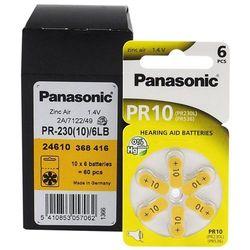 120 x baterie do aparatów słuchowych Panasonic 10 / PR10 / PR230L / PR536 / PR70